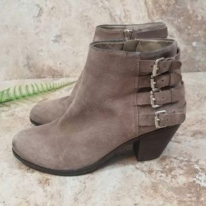 Sam Edelman Lucca 4 Buckle Leather Ankle Booties